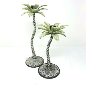 Set of 2 Mikasa Island Trees Palm Trees Cast Iron